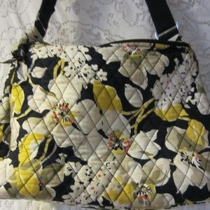 Vera Bradley dogwood yellow diaper bag